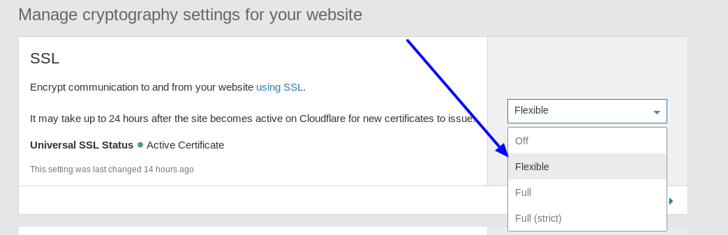 Crypto-Enabling SSL in Cloudflare