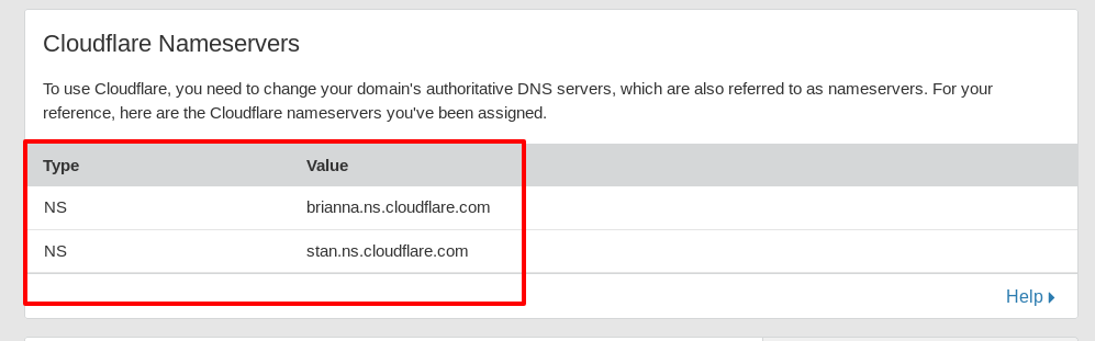 cloudflare_nameservers